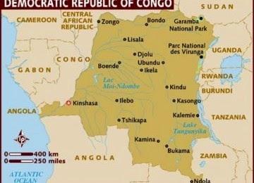 Peta Negara Congo
