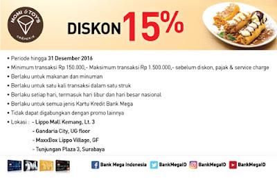 Diskon 15% Momi&Toys - Bank Mega