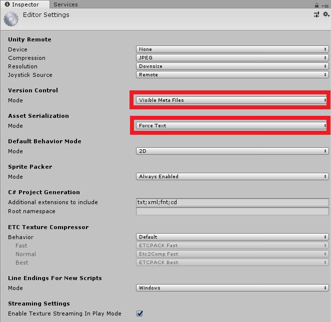 Unity3D 使用 Git 做版控的相關設定