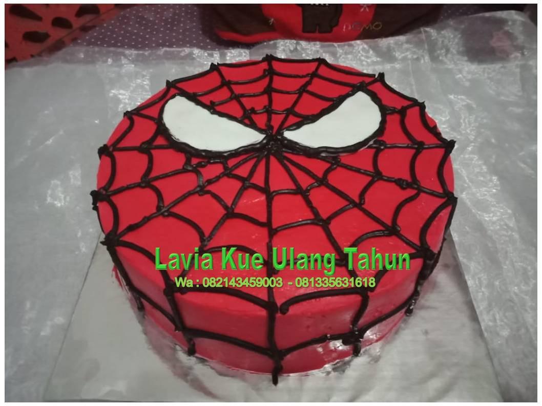 Kue Ulang Tahun Sidoarjo Surabaya Kue Ulang Tahun Spiderman Bentuk Simple