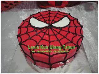 Kue Ulang Tahun Spiderman Bentuk Simple