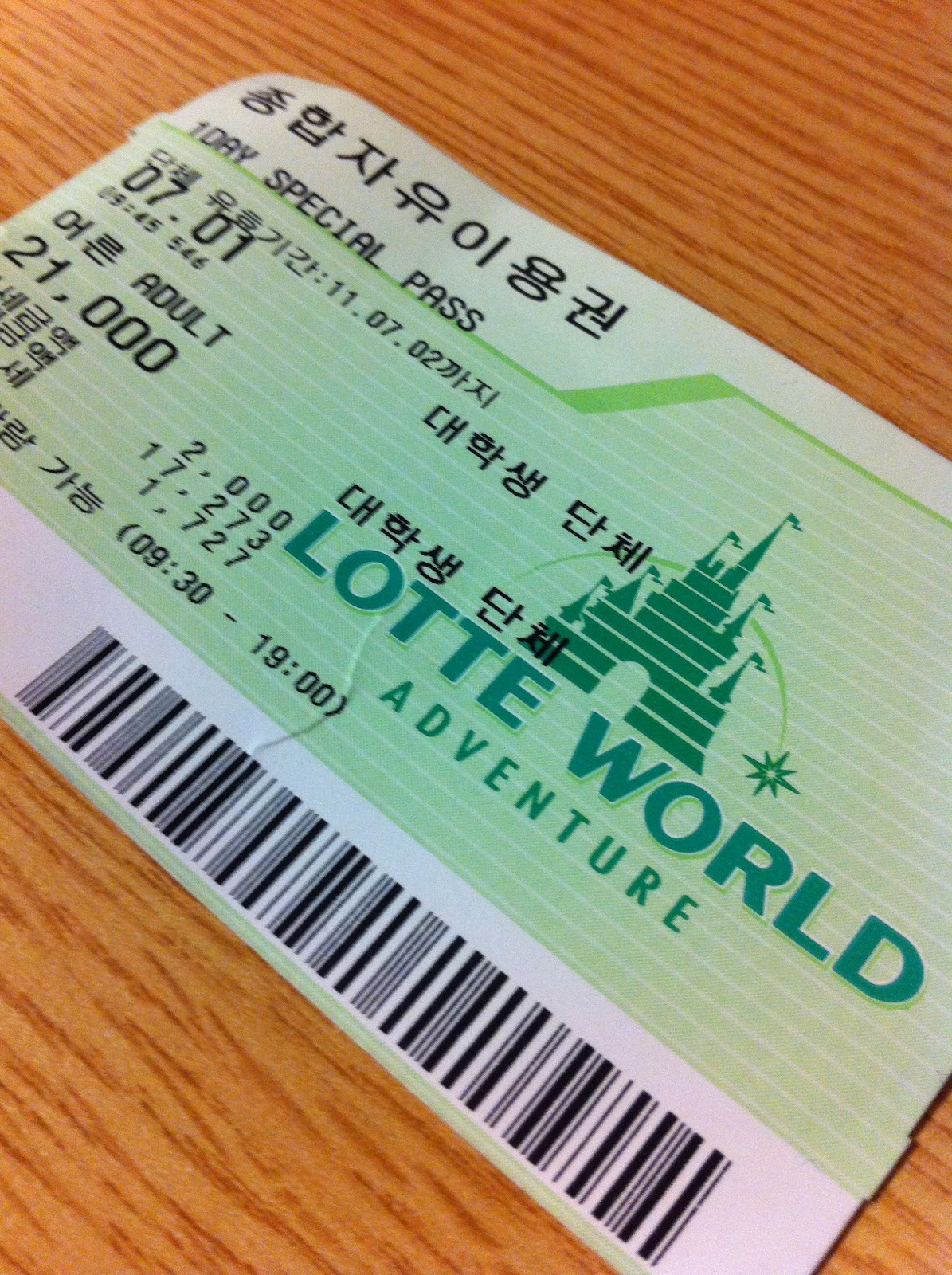Image result for tickets of lotte world