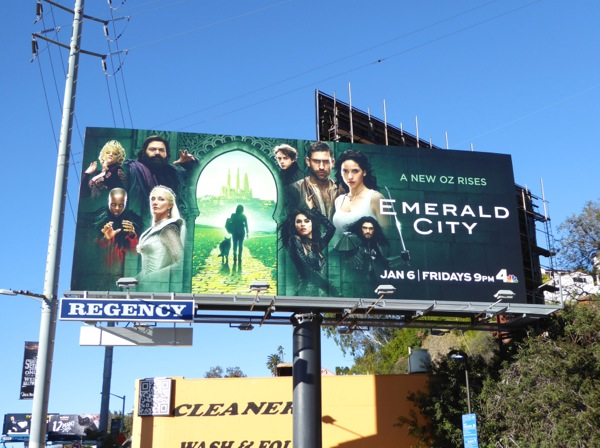 Emerald City series launch billboard