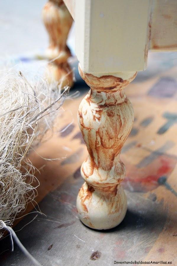 DIY decapado muebles cera