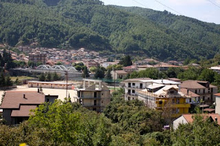 A view over the rooftops of Cardinale in Calabria