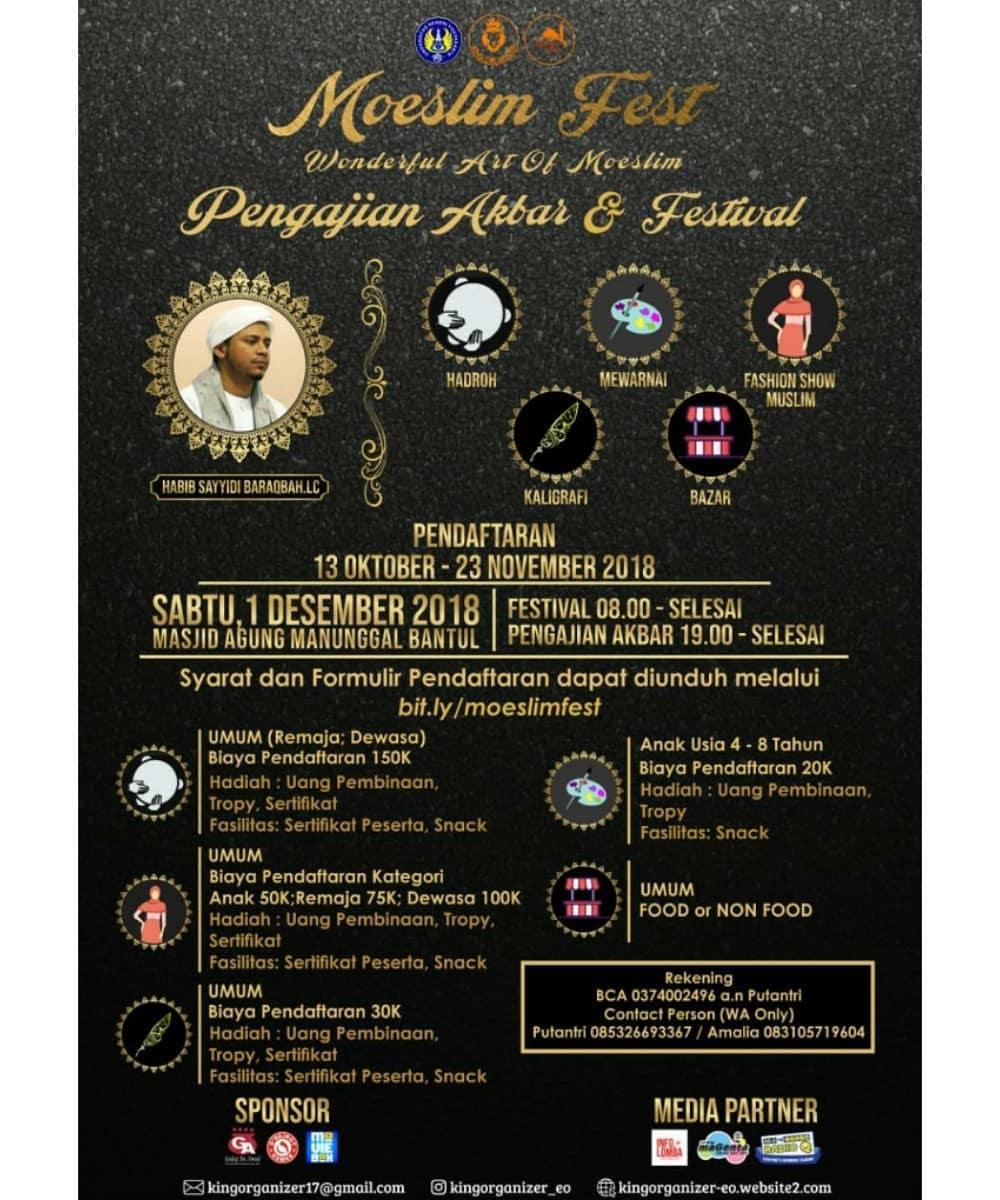 Event Moeslim Fest 2018 Untuk Umum