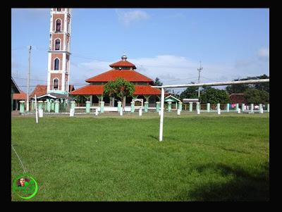 Penanaman pohon Jamparing Langit di sekeliling Lapangan Sepak Bola sudah di kerjakan.