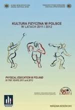 """Okładka publikacji """"Kultura fizyczna w Polsce w latach 2011-2012"""", którą przygotował Główny Urząd Statystyczny"""