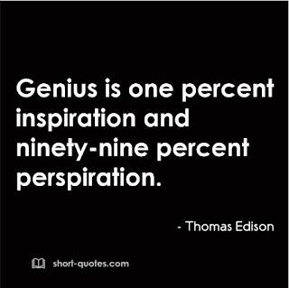 genius is one percent quote