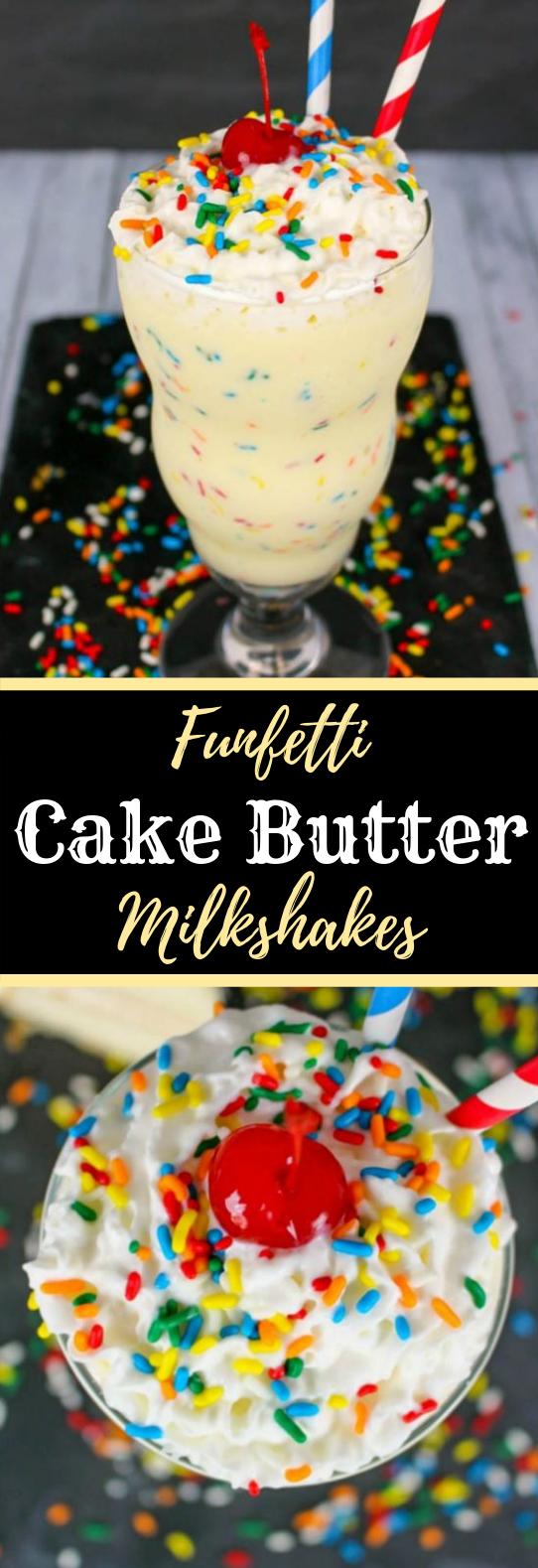 FUNFETTI CAKE BATTER MILKSHAKE RECIPE #Milk #Summer