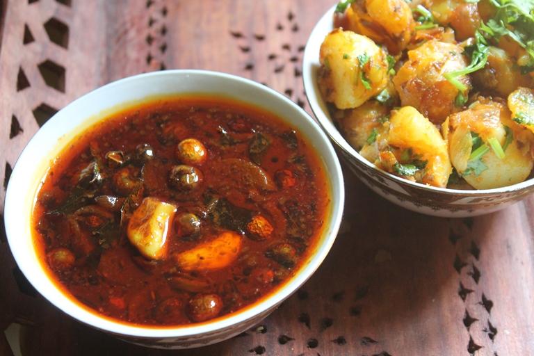 Sundakkai Vathal Kuzhambu & Chutta Appalam Recipe - Vatha