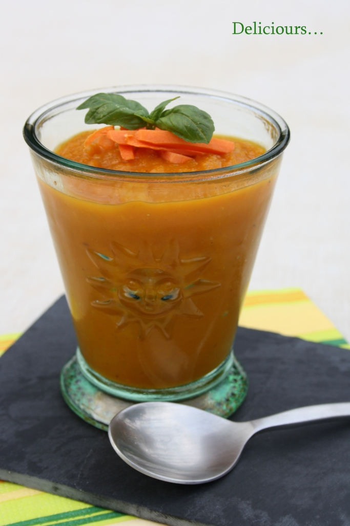 deliciours soupe froide de carottes l orange au cumin. Black Bedroom Furniture Sets. Home Design Ideas