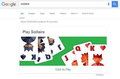 Solitaire di Search Engine, Solitaire, Fitur baru Search Engine Google