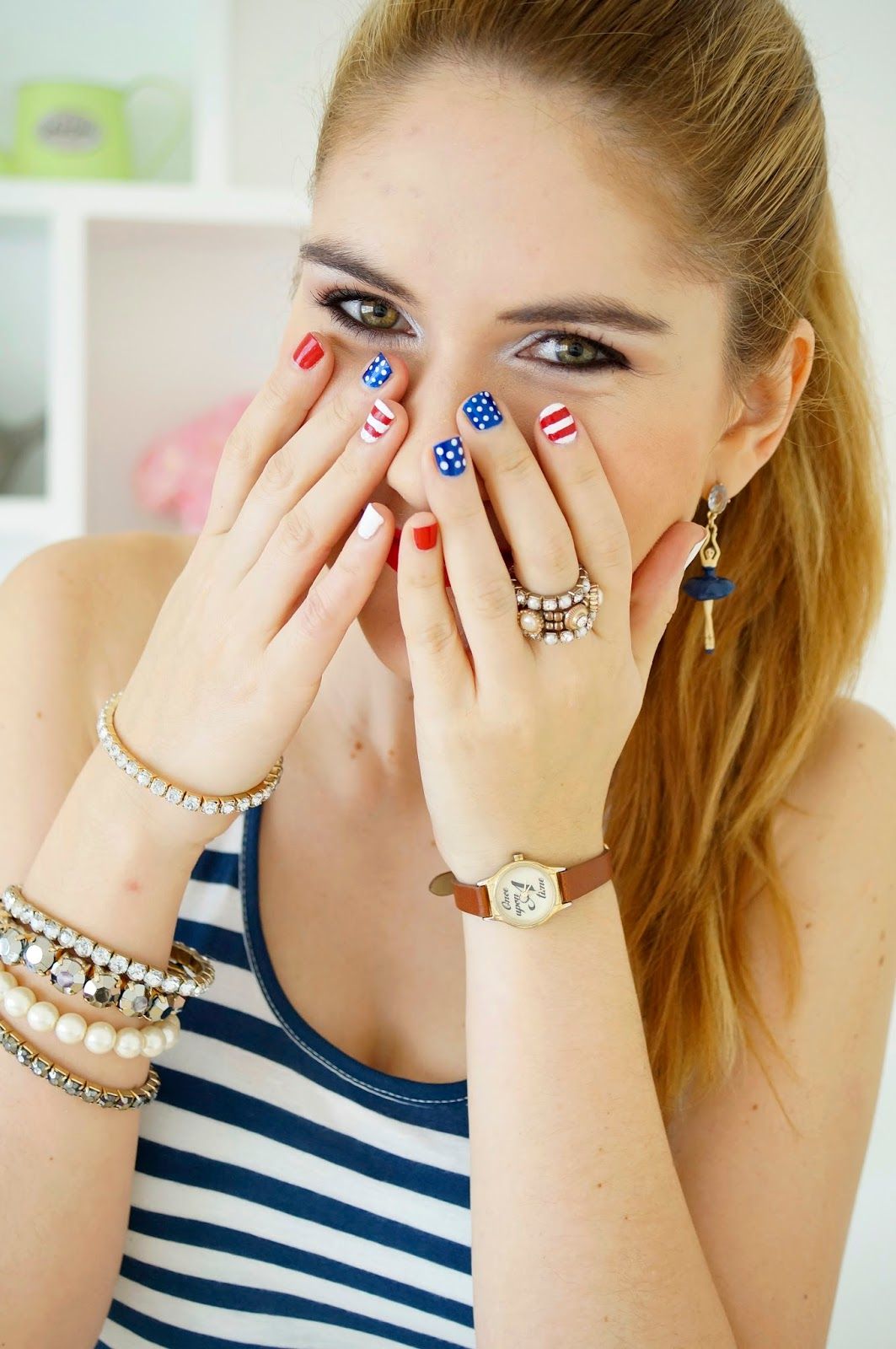 USA Nails, 4th of July Mani