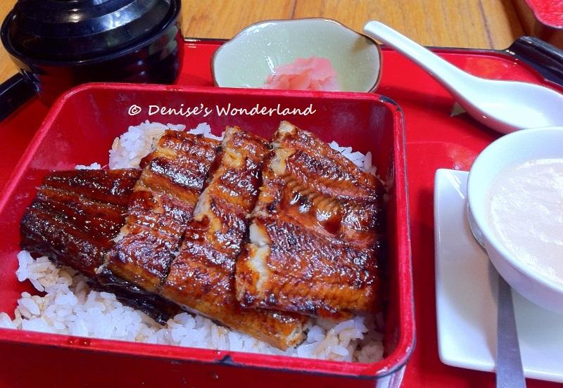 Grilled eel at Zipangu
