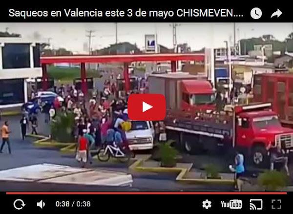 Saqueos en Valencia - Carabobo este 3 de mayo