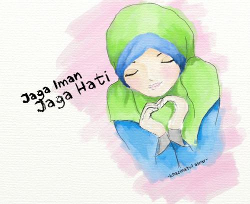 Wallpaper Gambar Kartun Muslimah Keren Terbaru  Deloiz