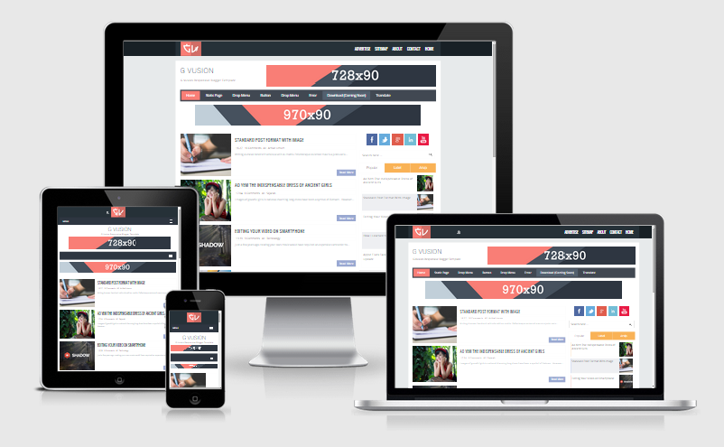 G Vusion Responsive Blogger Template