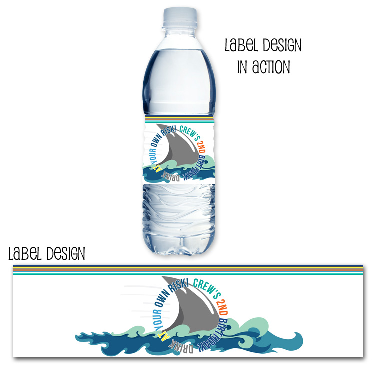 http://www.partyboxdesign.com/item_1919/Shark-Birthday-Boy-Water-Bottle-Label.htm
