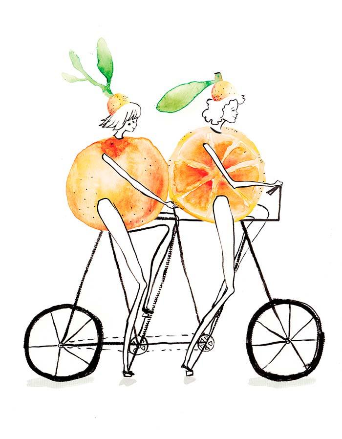 Ilustración, 30 días en bici de Laura Izquierdo