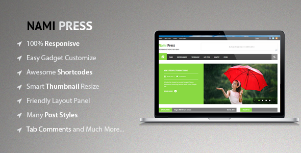 Nami Press - Responsive Blogger Templates
