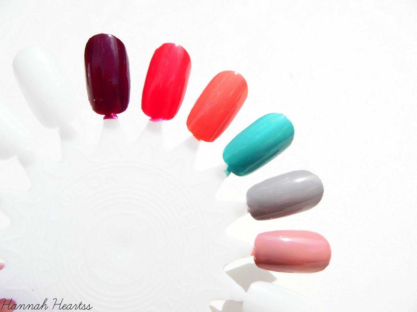Nails inc Gel Effect Nail Polishes Swatches
