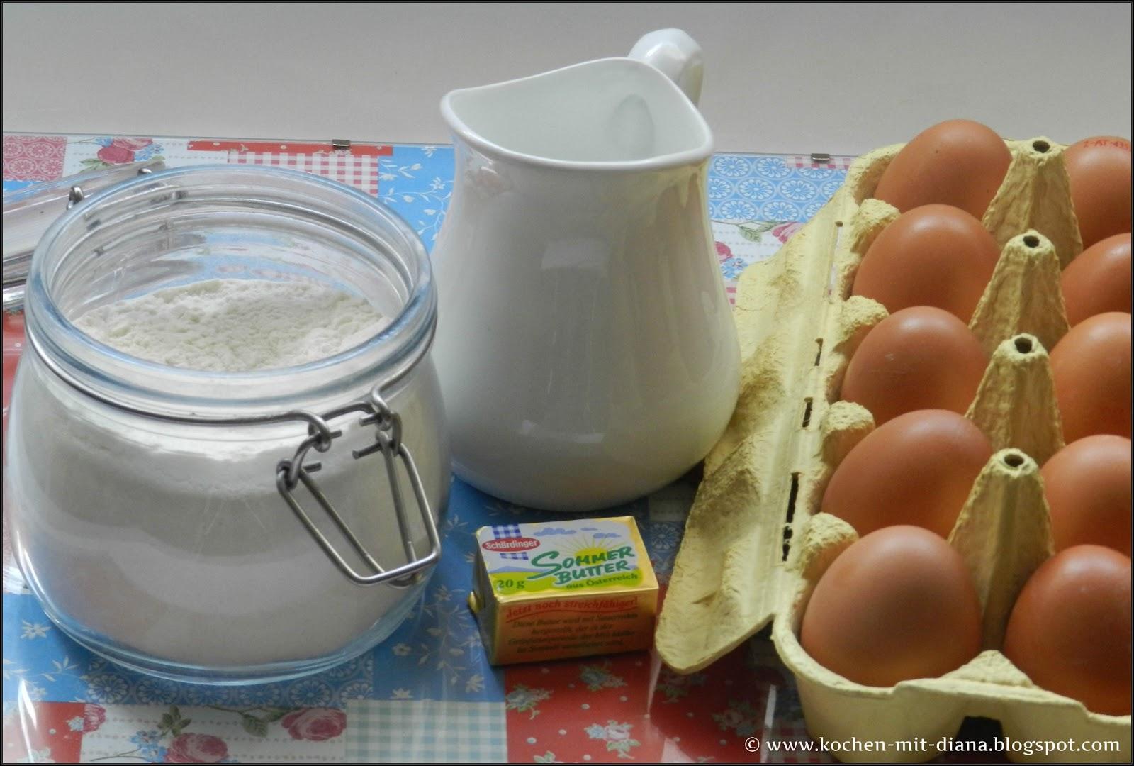 Zutaten Pfannkuchen