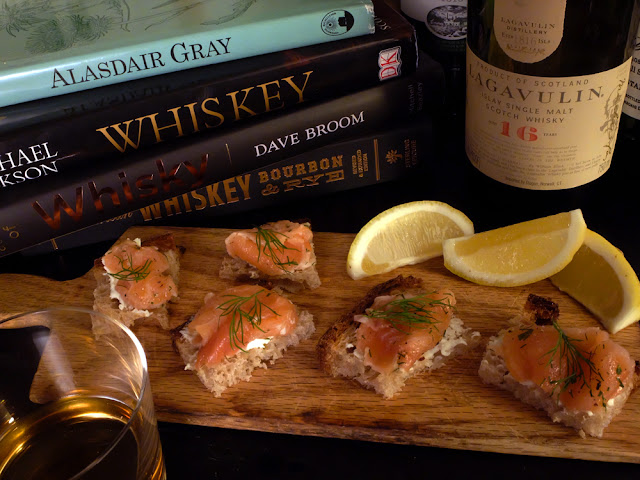 Celebrate Burns Night with a wee dram and some whisky-doused salmon appetizers