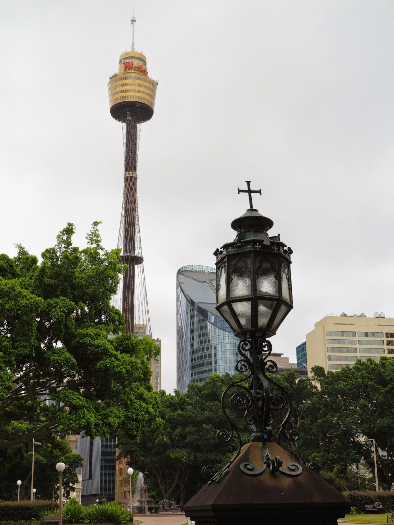 sydney, australia, centrepoint, lamp, view, photography