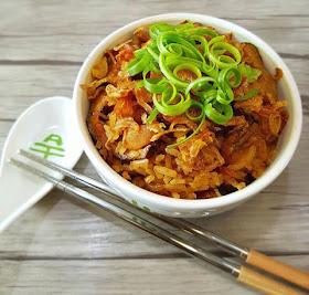 Rice Cooker Chicken Mushroom Rice