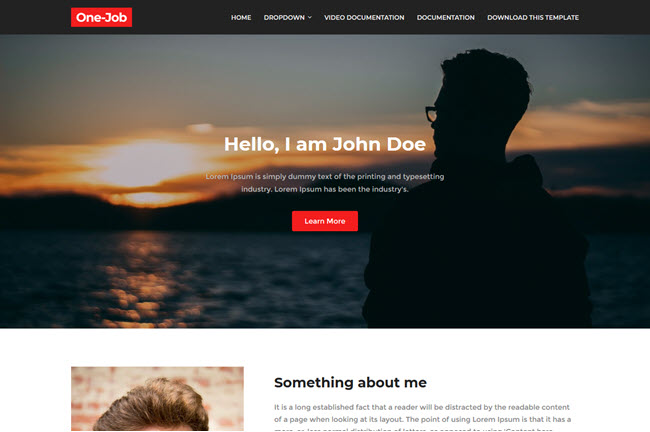 OneJob Blogger Template Premium Free Download