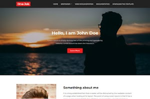 OneJob - Responsive Personal Blogger Template