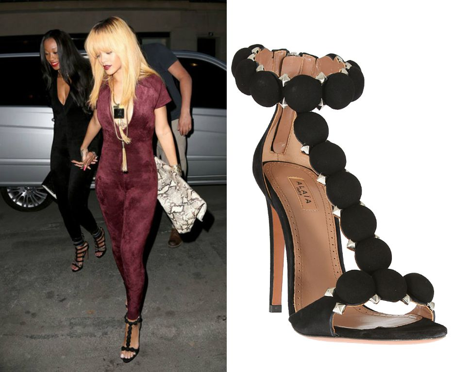 1630ca6debf DUPE ALERT: AZZEDINE ALAIA STUDDED SUEDE SANDALS LOOK FOR LESS - SAMTYMS