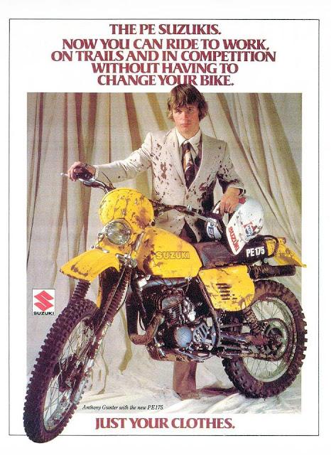 Suzuki PE175 Vintage Print Ad.
