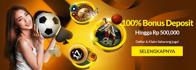 Daftar 188BET 100% Bonus Deposit
