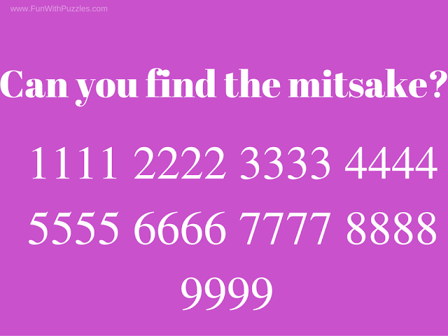 Find the mistake brain teaser