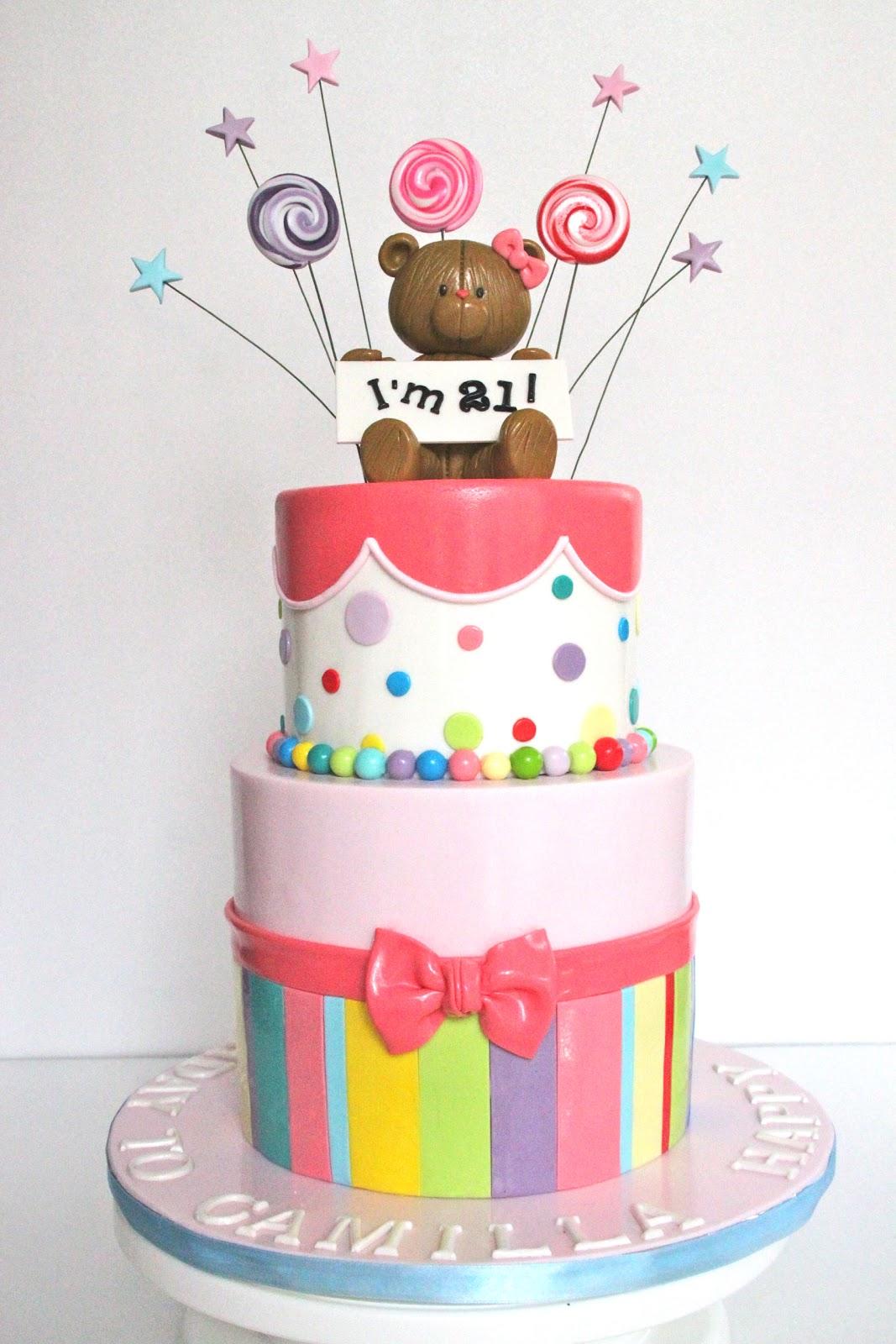 Teddy 21st Birthday Cake