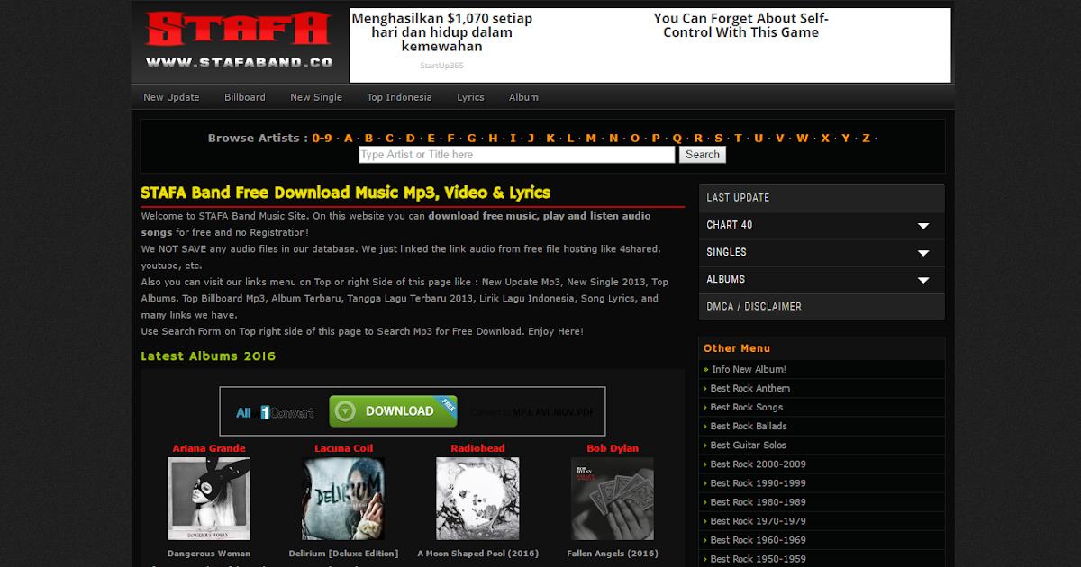 3 Situs Download Lagu MP3 Gratis Terbaik Dan Terlengkap