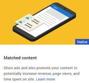 Cara Memasang dan Mendapatkan Iklan Matched Content Adsense Di Blog 2019