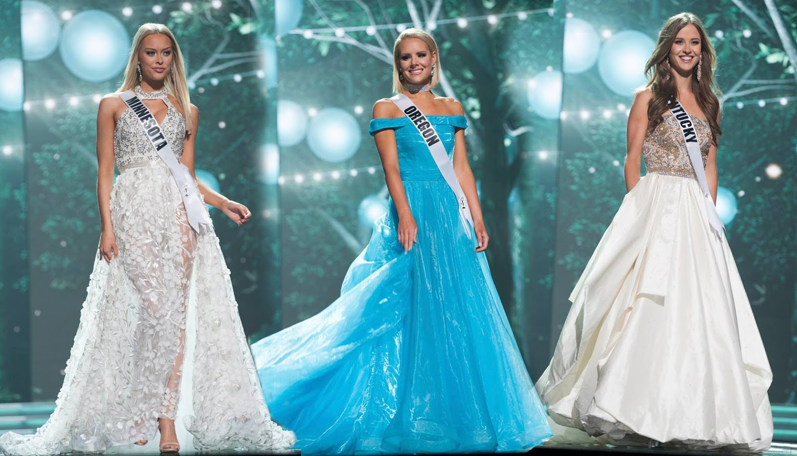 SASHES AND TIARAS.....Miss USA 2017 Preliminaries GOWNS: The OH DEAR ...