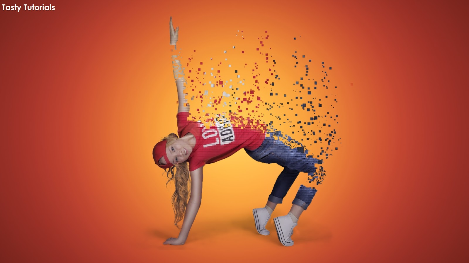 Pixelated Dispersion Effect in Photoshop Complete Tutorial - Tasty
