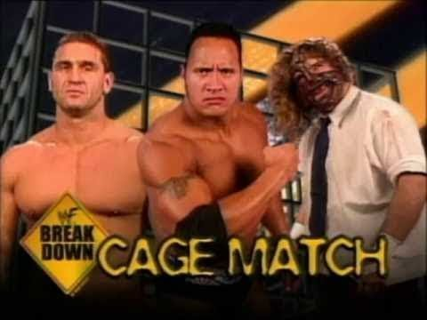 WWE / 28 WWF In Your House Matches You Should Watch - The Rock vs. Ken Shamrock vs. Mankind