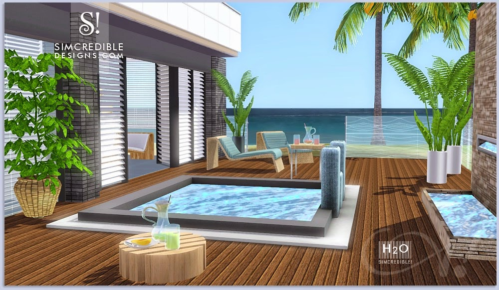 My Sims 3 Blog: H20 Outdoor Set by Simcredible Designs