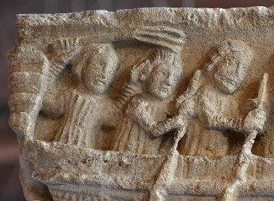 flagelacion azote latigo medieval capitel daurade toulouse romanico