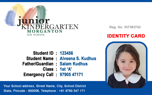 school id badge template - id cards