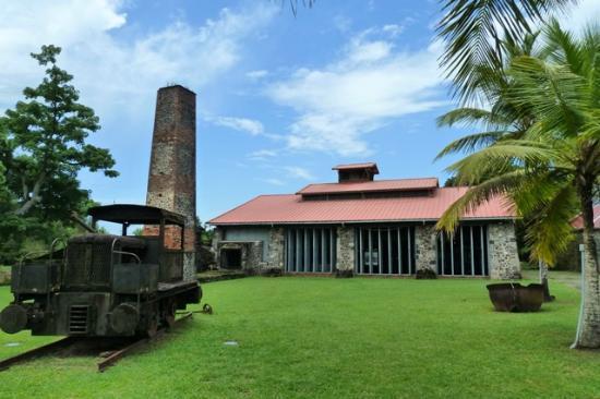 Entrée Maison de la canne en Martinique