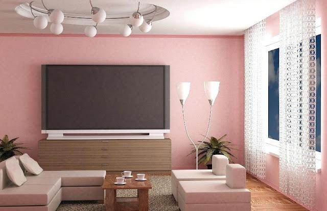 warna cat ruang tamu untuk ruangan sempit yang elegan