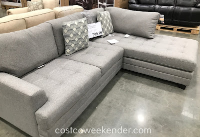 Relax in comfort on the True Innovations Fabric Sofa Chaise Sectional