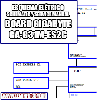 Esquema Elétrico Placa mãe Gigabyte GA-G31M-ES2C Motherboard Manual de Serviço  Service Manual schematic Diagram Gigabyte GA-G31M-ES2CG Motherboard    Esquematico Gigabyte GA G31M ES2C Motherboard