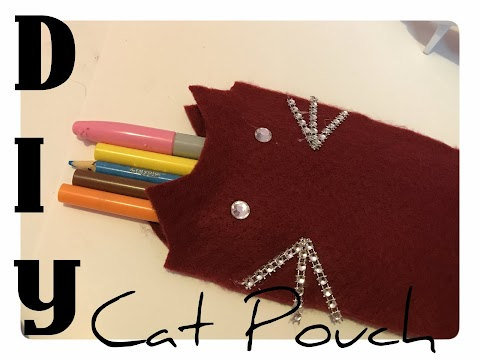 DIY Cat Pencil Pouch/Phone Pouch
